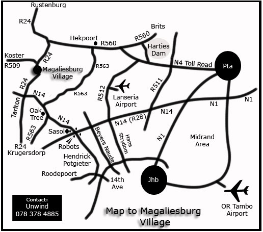 Magaliesburg map